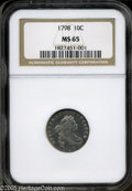 Early Dimes: , 1798 10C Large 8 MS65 NGC. ...