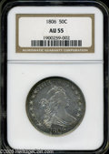 Early Half Dollars: , 1806 50C Pointed 6, Stem AU55 NGC. ...