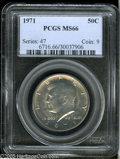 Kennedy Half Dollars: , 1971 50C MS66 PCGS. ...
