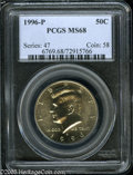 Kennedy Half Dollars: , 1996-P 50C MS68 PCGS. ...