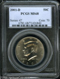 Kennedy Half Dollars: , 2001-D 50C MS68 PCGS. ...