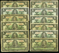 Canadian Currency, An Assortment of a Dozen Canadian 1937 $1 Notes.. ... (Total: 12 notes)