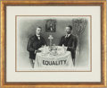 Political:Posters & Broadsides (1896-present), Theodore Roosevelt and Booker T. Washington: Iconic EqualityPrint....