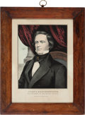 Political:Posters & Broadsides (pre-1896), John C. Breckinridge: Nicely-Colored Vice-Presidential Print byCurrier....