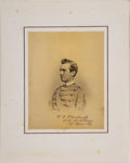Military & Patriotic:Indian Wars, Thomas Tipton Thornburgh: West Point Cadet Graduation Photograph, June 17, 1867....