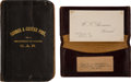 Military & Patriotic:Indian Wars, Thomas McDougall: His GAR Memo Book, Card Case, and a Surprise!... (Total: 2 Items)