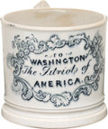 "Political:3D & Other Display (pre-1896), George Washington: ""Patriot of America"" Child's Mug...."