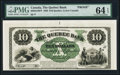 Canadian Currency, Quebec, LC- The Quebec Bank $10 Jan. 2, 1863 Ch. # 620-34-10FP FaceProof.. ...