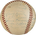 Baseball Collectibles:Balls, 1947 Brooklyn Dodgers Team Signed Baseball with Jackie Robinson from The Beans Reardon Collection.. ...