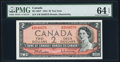 Canadian Currency, BC-38bT $2 1954 Test Note S/R Prefix.. ...