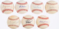 Autographs:Baseballs, Hall of Fame Single Signed Baseball Lot of 7.. ...