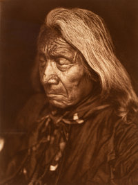 Edward Sheriff Curtis (American, 1868-1952) Red Cloud--Ogalala, Plate 103, 1905 Photogravure 15-3