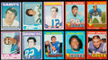 Football Cards:Lots, 1971 and 1972 Topps Football Collection (639)....