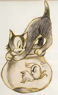 Animation Art:Concept Art, Pinocchio Figaro and Cleo Concept Drawing (Walt Disney, 1940)....