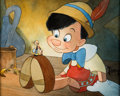 Animation Art:Production Drawing, Pinocchio Jiminy Cricket and Pinocchio Illustration by TobyBluth (Walt Disney, 2010)....