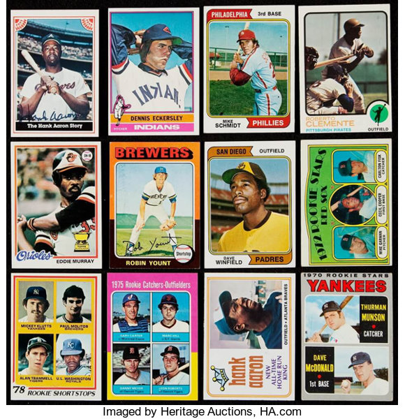 1970 78 Topps Baseball Collection 101 Plus 1983 Signed