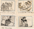 Animation Art:Production Drawing, Pinocchio Lampwick Storyboard Art (Walt Disney, 1940)....