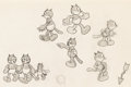 animation art:Model Sheet, Alice Comedies Julius Model Sheet Original Art Signed by Virginia Davis (Walt Disney, c. 1920s)....
