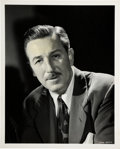 Memorabilia:Disney, Walt Disney Vintage Studio Photo with Press Release Group (Walt Disney, 1940s-50s).... (Total: 5 Items)