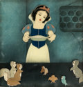 Animation Art:Production Cel, Snow White and the Seven Dwarfs Production Cel CourvoisierSetup (Walt Disney, 1937)....