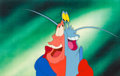 Animation Art:Production Cel, The Little Mermaid Sebastian and Shrimp Production Cel (WaltDisney, 1989). ...