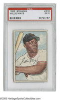Baseball Cards:Singles (1950-1959), 1952 Bowman Willie Mays #218 PSA EX 5. Fine example of thissecond-year card....