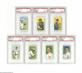 Baseball Cards:Lots, 1909-11 T206 PSA VG-EX 4 Lot of 7. Included are Harry KrausePortrait, Al Mattern, Clyde Milan, Harry Niles, Jim Pastorius,...