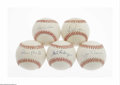 Autographs:Baseballs, Philadelpha Phillies Single-Singed Baseballs Lot of 5. Phillylegends and Hall of Famers Ashburn and Roberts highlight this ...(5 )