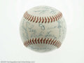 Autographs:Baseballs, 1953 New York Giants Team Signed Baseball. Thirty-five strong (9/10average) blue ink signatures on an ONL (Giles) ball inc...