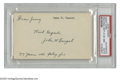 Autographs:Index Cards, John Ganzel Signed Index Card. The first baseman of the New York Highlanders in their inaugural 1903 season, the team that ...
