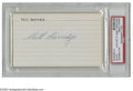 Autographs:Index Cards, Will Harridge Signed Index Card. The American League president offers a 10/10 black ink signature on the lined side of a 3x...