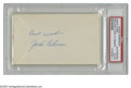 Autographs:Index Cards, Jackie Robinson Signed Index Card. The Martin Luther King, Jr. of Major League Baseball. Perfect blue ink signature is on ...