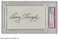 Autographs:Index Cards, Casey Stengel Signed Index Card. The Hall of Fame mastermind of oneof the Yankees' great dynasties. Perfect black ink sig...