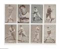 Autographs:Sports Cards, 1930's-40's Baseball Stars Signed Exhibit Cards Lot of 17. Strongink signatures on vintage cards include five Hall of Fame...