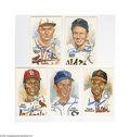 Autographs:Post Cards, Perez-Steele Signed Postcards Lot of 5. Perfect blue sharpiesignatures from Frank Robinson, Mize, Kiner, Aparicio and Gibs...