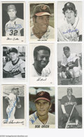 """Autographs:Others, 1960's-70's Baseball Stars Signed Postcards, Cards &Photographs Lot of 23. Mixture of 4x6"""" photographic images issigned i..."""