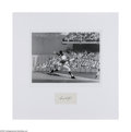 "Autographs:Index Cards, Sandy Koufax Signed Display. Fantastic high-quality 11x14""photograph is matted above a 10/10 black ink signature on a blan..."