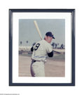 "Autographs:Photos, Ted Williams Signed Large Photograph. This beautiful 16"" x 20""image of the ""Splendid Splinter"" is signed boldly in mint blu..."