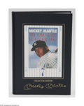 """Autographs:Others, Mickey Mantle Signed Book. Limited edition (of 1956) specialleatherbound collector edition of """"My Favorite Summer 1956"""" is..."""