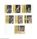 Basketball Cards:Lots, 1986-87 Fleer Baskeball Stickers Group Lot (21ct.) Includes KareemAbdul-Jabbar (4), Larry Bird (3), Patrick Ewing (2), Magi...