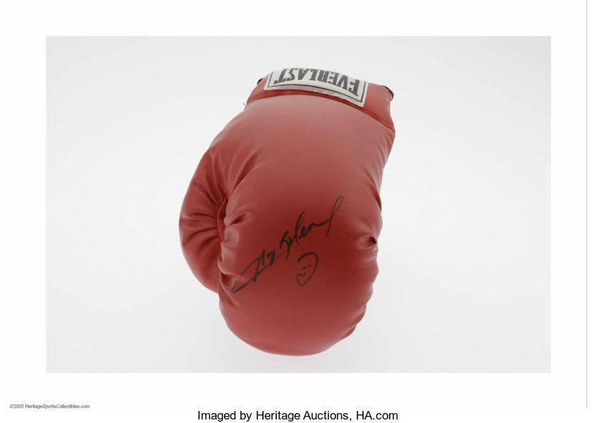 32426682f81 Sugar Ray Leonard Signed Glove. A perfect black sharpie