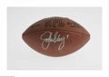 Football Collectibles:Balls, John Elway Signed Football. A perfect silver sharpie signature on this Official N.F.L. football from the star Denver Bronco...