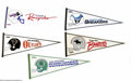 Football Collectibles:Others, Mid-1980's U.S.F.L. Pennants Lot of 21. Tough grouping of pennants have mild to moderate storage wear with a few scattered ...