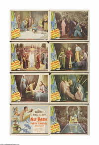 "Ali Baba and the Forty Thieves (Universal, 1944). Lobby Card Set of 8 (11"" X 14""). These are vintage, theater-..."