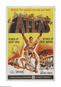 "Movie Posters:Action, Atlas (Film Group, Inc., 1961). One Sheet (27"" X 41""). Offered hereis a vintage, theater-used poster for this adventure dra..."