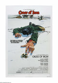 "Movie Posters:War, Cross of Iron (AVCO Embassy Pictures, 1977). One Sheet (27"" X 41"").Offered here is a vintage, theater-used poster for this ..."