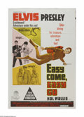 """Movie Posters:Elvis Presley, Easy Come, Easy Go (Paramount, 1967). Australian One Sheet (27"""" X40""""). Offered here is a vintage, theater-used poster for t..."""