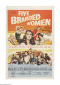 "Movie Posters:War, Five Branded Women (Paramount, 1960). One Sheet (27"" X 41"").Offered here is a vintage, theater-used poster for this war dra..."