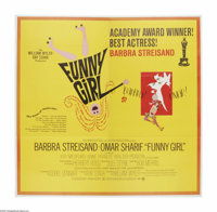 """Funny Girl (Columbia, 1968). Six Sheet (81"""" X 81""""). Offered here is a vintage, theater-used poster for this mu..."""