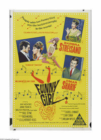"Funny Girl (Columbia, 1968). Australian One Sheet (27"" X 40""). Offered here is a vintage, theater-used poster..."
